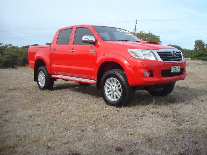 2012 Toyota Hilux SR5 KUN26R MY12 4X4 Red