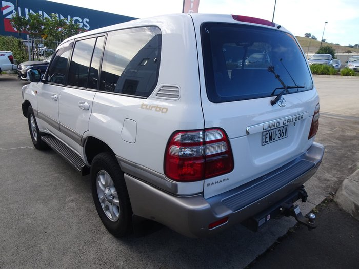 2003 Toyota Landcruiser Sahara HDJ100R 4X4 Constant White