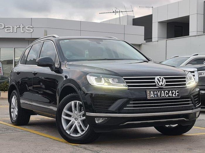 2015 Volkswagen Touareg 150TDI Element 7P MY16 Four Wheel Drive Black