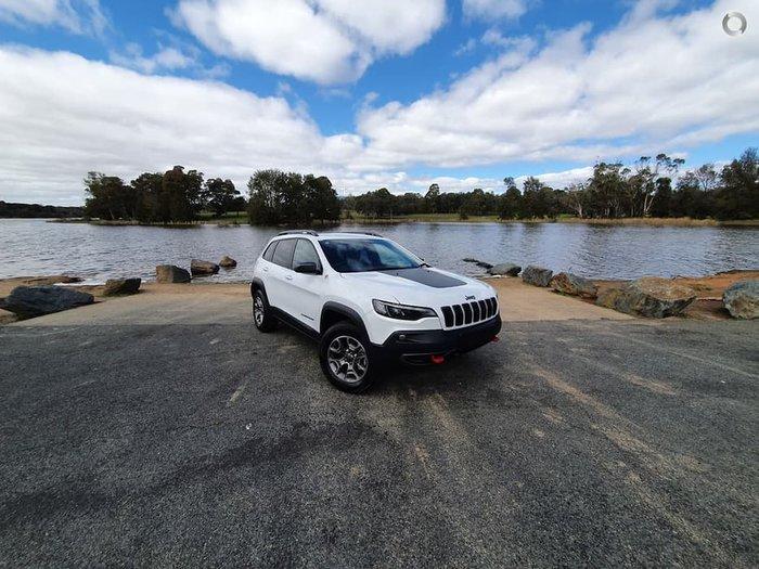 2021 Jeep Cherokee Trailhawk KL MY21 4X4 Dual Range White