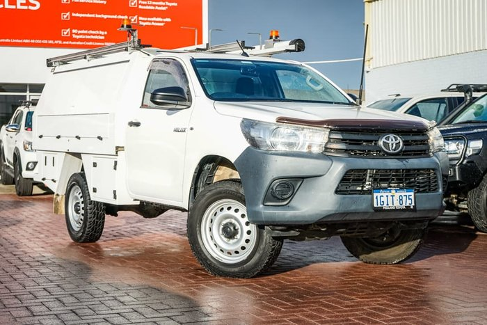 2017 Toyota Hilux Workmate GUN125R 4X4 Dual Range Glacier White