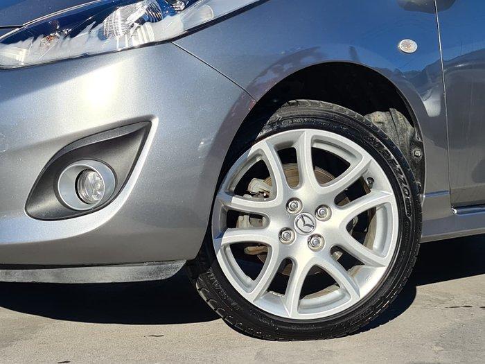 2011 Mazda 2 Genki DE Series 2 MY12 Aluminium