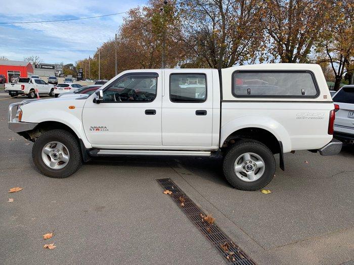 2010 Nissan Navara ST-R D22 MY09 4X4 White