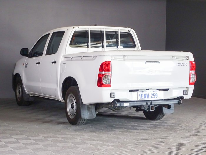2013 Toyota Hilux Workmate TGN16R MY14 Glacier White
