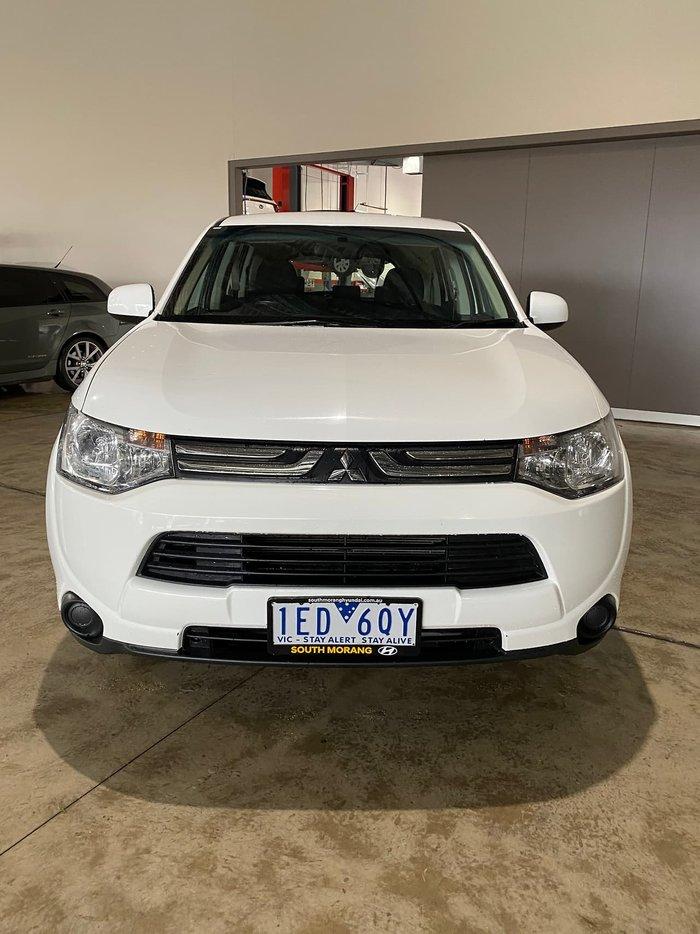2013 Mitsubishi Outlander ES ZJ MY13 4X4 On Demand White