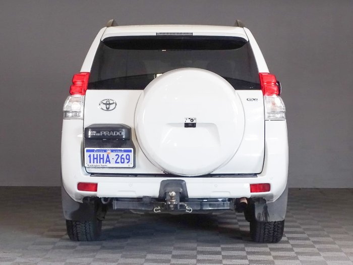2011 Toyota Landcruiser Prado GXL GRJ150R 4X4 Constant Glacier White