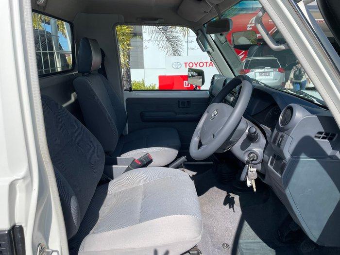 2014 Toyota Landcruiser GXL VDJ79R 4X4 Dual Range French Vanilla