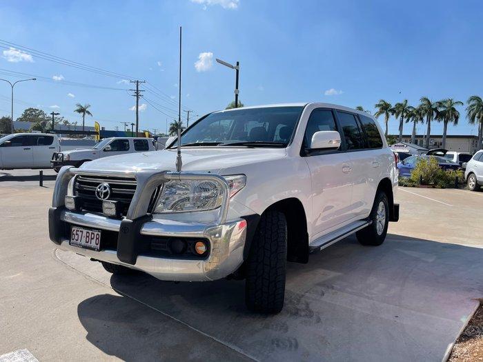 2013 Toyota Landcruiser GXL VDJ200R MY13 4X4 Constant Glacier White