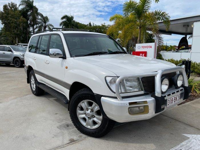 2004 Toyota Landcruiser Sahara HDJ100R 4X4 Constant White Or Cyrstal Pearl