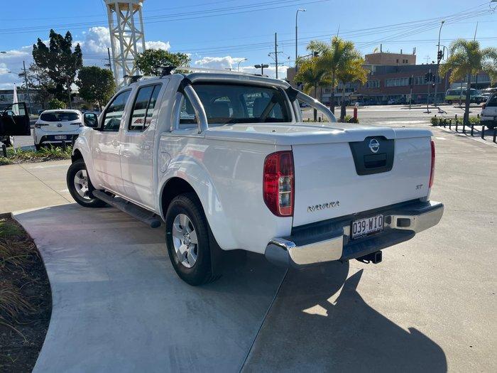 2011 Nissan Navara ST D40 MY11 4X4 Polar White