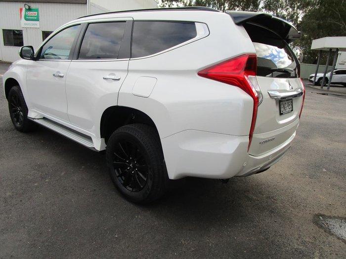 2018 Mitsubishi Pajero Sport Black Edition QE MY19 4X4 Dual Range White