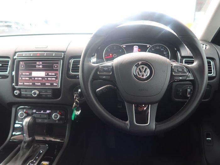 2016 Volkswagen Touareg 150TDI 7P MY16 Four Wheel Drive Pure White