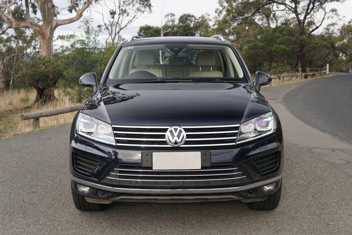 2016 Volkswagen Touareg V6 TDI 7P MY16 Four Wheel Drive Moonlight Blue