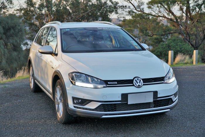 2019 Volkswagen Golf Alltrack 132TSI 7.5 MY20 Four Wheel Drive Pure White