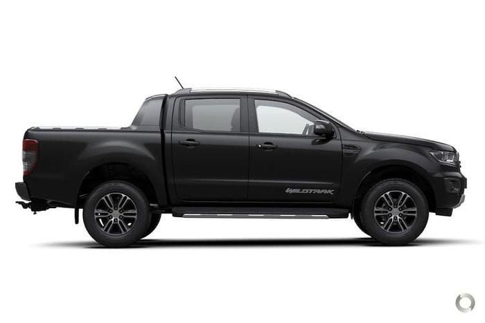 2021 Ford Ranger Wildtrak PX MkIII MY21.25 4X4 Dual Range Shadow Black