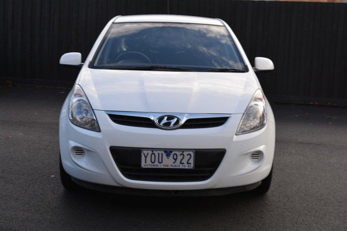 2011 Hyundai i20 Active PB MY11 Crystal White
