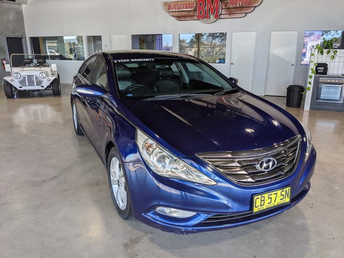 2010 Hyundai i45 Elite YF MY11 Blue Passion