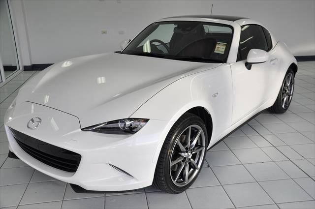 2021 MAZDA MX-5 RF GT MX-5 V 6AUTO 2.0L RF GT BLACK ROOF BURGUNDYLEATHER Snowflake White Pearl