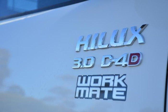 2015 Toyota Hilux Workmate KUN16R MY14 Glacier White