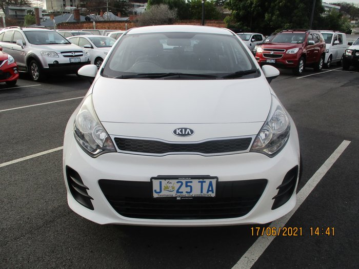 2014 Kia Rio S UB MY14 Clear White