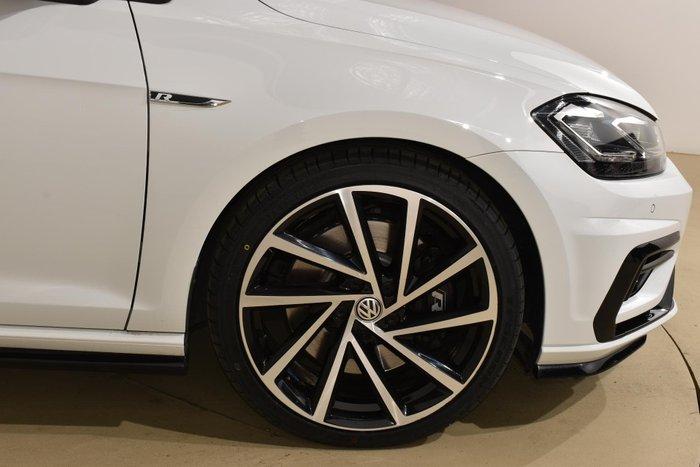 2018 Volkswagen Golf R 7.5 MY19 Four Wheel Drive Pure White