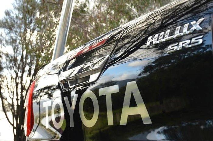 2018 Toyota Hilux SR5 GUN126R 4X4 Dual Range Eclipse Black
