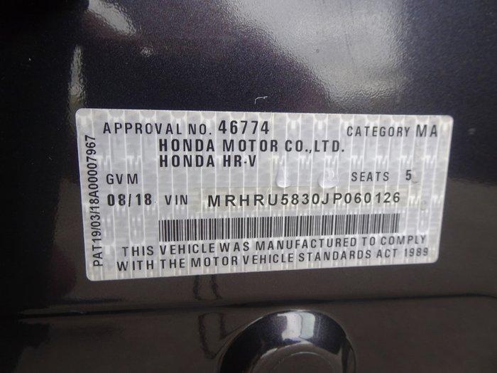 2018 Honda HR-V VTi MY18 Ruse Black