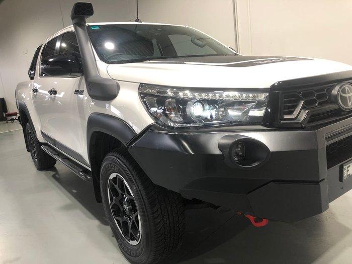 2019 Toyota Hilux Rugged X GUN126R 4X4 Dual Range White