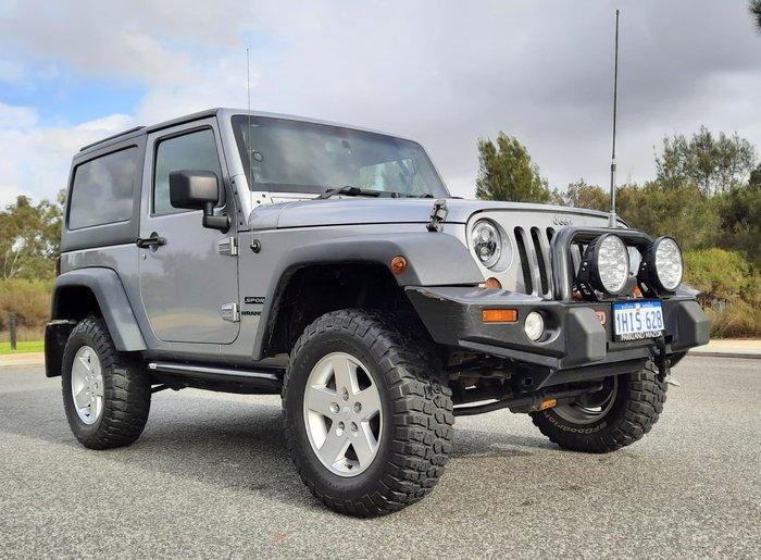 2013 Jeep Wrangler Sport JK MY13 4X4 Billet Silver