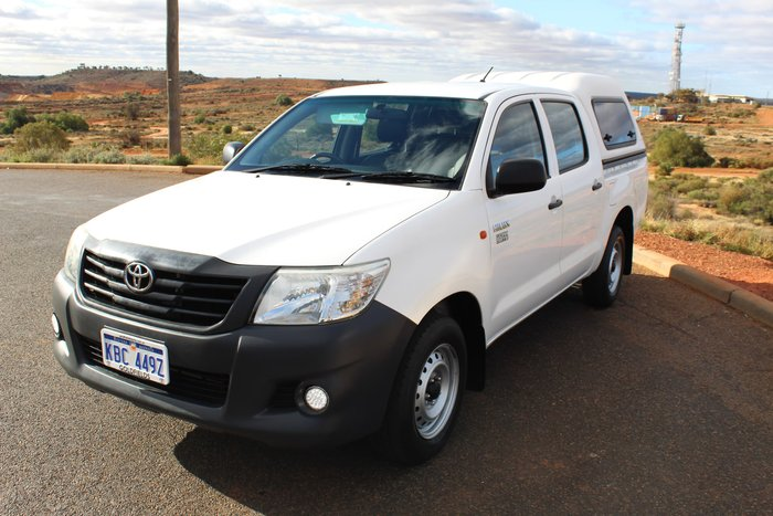2014 Toyota Hilux Workmate TGN16R MY14 Glacier White