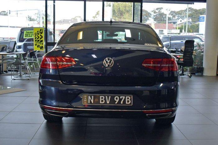 2017 Volkswagen Passat 206TSI R-Line B8 MY17 Four Wheel Drive Night Blue