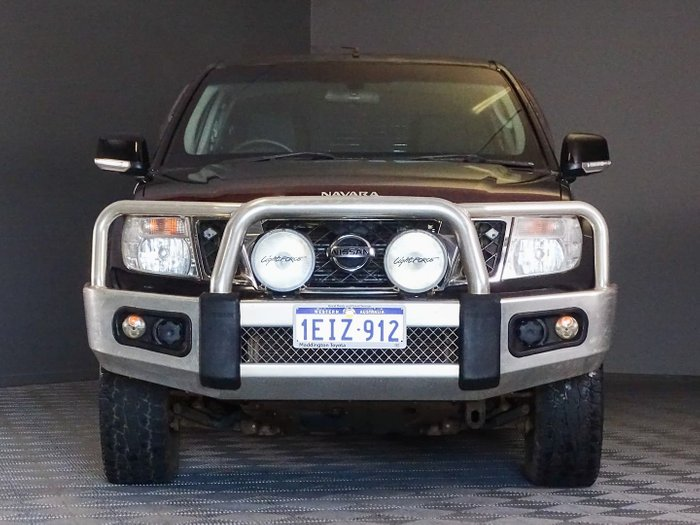 2013 Nissan Navara ST D40 Series 6 4X4 Midnight Black