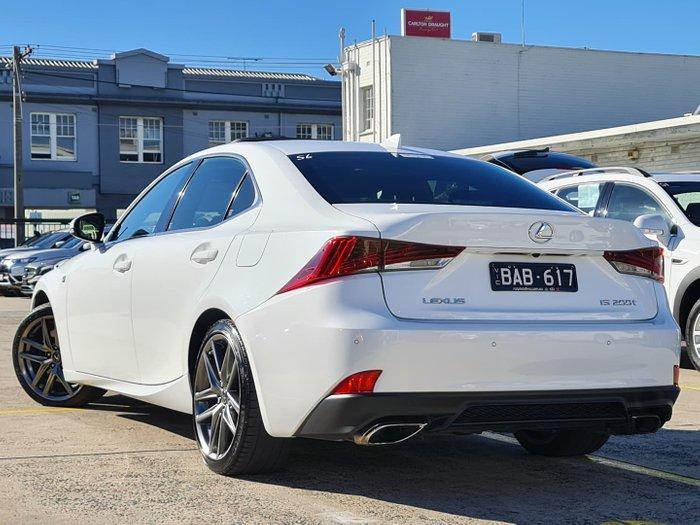 2017 Lexus IS IS200t F Sport ASE30R White Nova