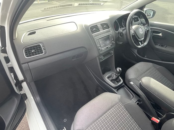 2016 Volkswagen Polo 81TSI Comfortline 6R MY17 Pure White
