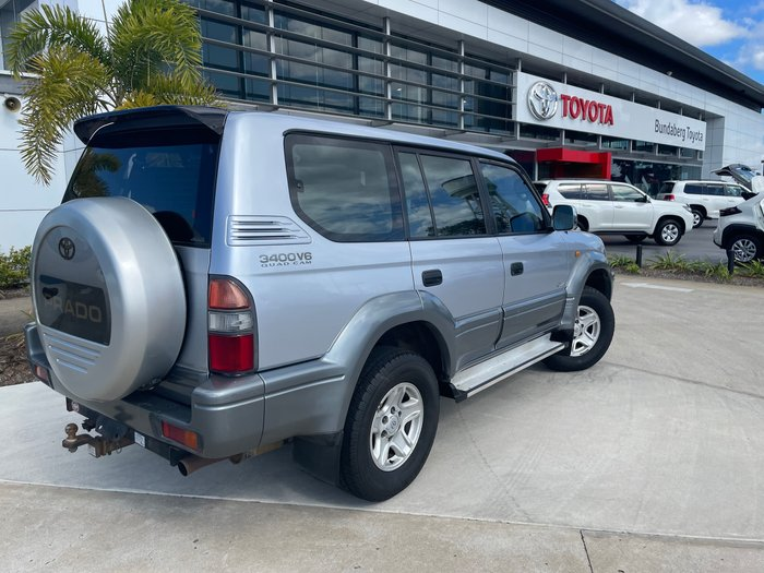 1997 Toyota Landcruiser Prado VX Grande VZJ95R 4X4 Bluish Silver