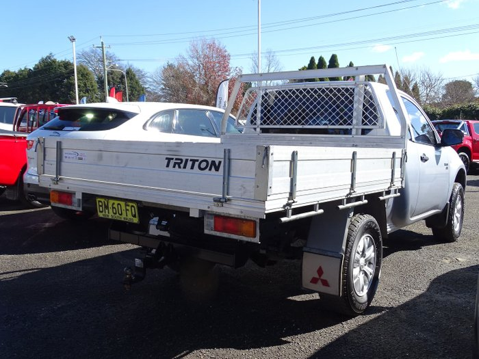 2010 Mitsubishi Triton GLX MN MY11 4X4 Dual Range Cool Silver