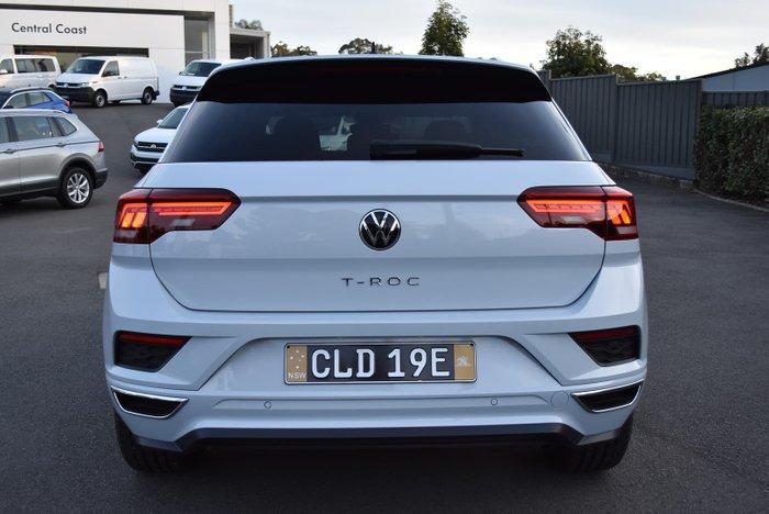 2021 Volkswagen T-Roc 140TSI Sport A1 MY21 Four Wheel Drive White Silver