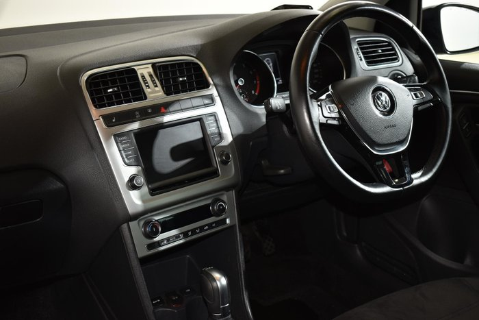 2017 Volkswagen Polo 81TSI Urban+ 6R MY17.5 Deep Black