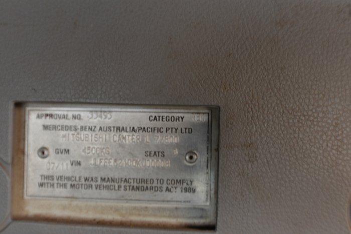2011 MITSUBISHI CANTER 515 WHITE