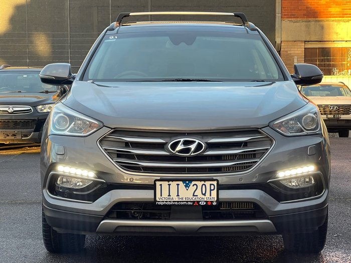 2016 Hyundai Santa Fe Highlander DM3 Series II MY17 4X4 On Demand Titanium Silver