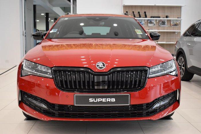 2020 SKODA Superb 206TSI SportLine NP MY21 4X4 Constant Velvet Red
