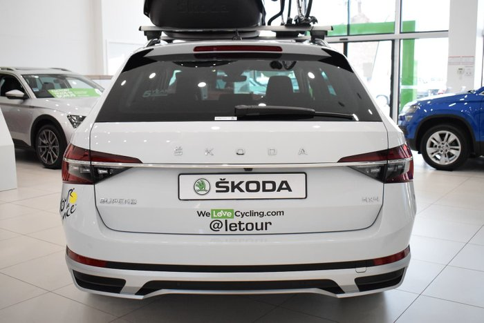 2020 SKODA Superb 200TSI Scout NP MY21 4X4 Constant Moon White
