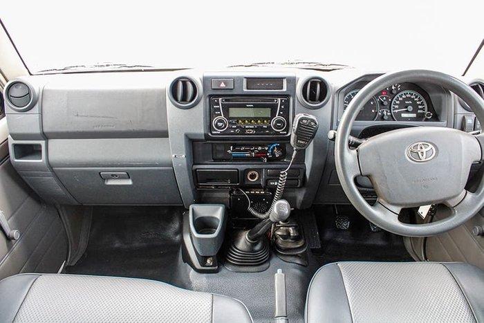 2012 Toyota Landcruiser Workmate Troopcarrier VDJ78R MY10 4X4 Dual Range French Vanilla