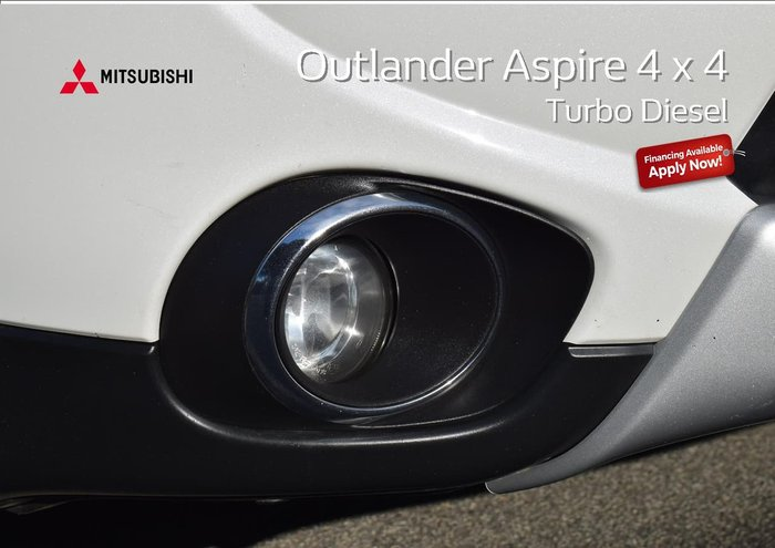 2014 Mitsubishi Outlander Aspire ZJ MY14.5 4X4 On Demand White