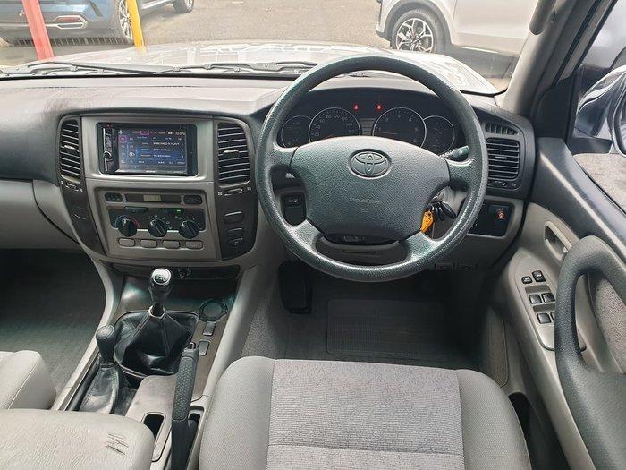 2004 Toyota Landcruiser GXL HZJ105R 4X4 Constant Silver