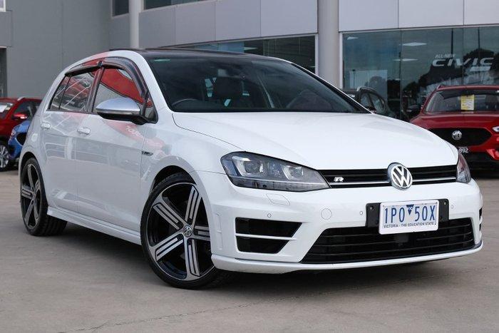 2016 Volkswagen Golf R 7 MY16 Four Wheel Drive Pure White