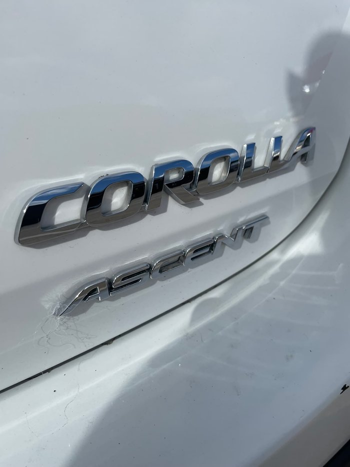 2013 Toyota Corolla Ascent ZRE182R White