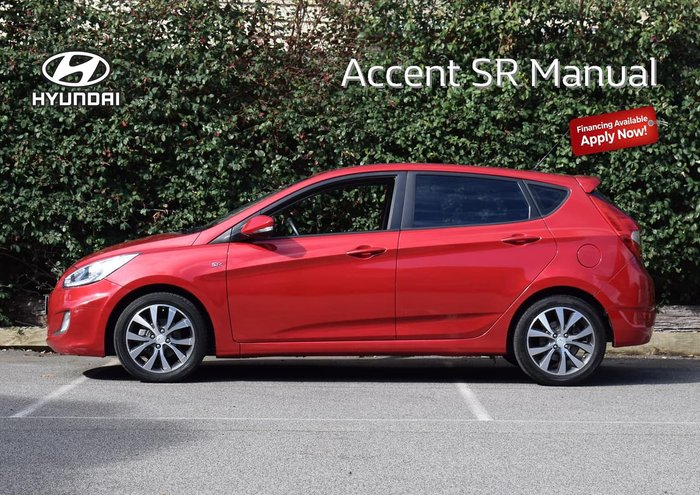 2013 Hyundai Accent SR RB3 Red