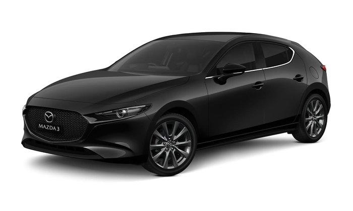 2021 Mazda 3 G25 Evolve BP Series Jet Black