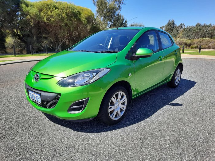 2012 Mazda 2 Neo DE Series 2 MY12 Spirited Green